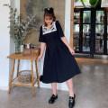 Women's large Spring 2021 black Large XL, large XXL, large XXL, large XXXXL, large XXXXL Dress singleton  commute thin Socket Short sleeve Korean version