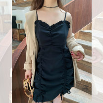 Women's large Spring 2021 black Large L, large XL, large XXL, large XXL, large XXXL Dress singleton  commute thin Socket Sleeveless Korean version 100% of large size