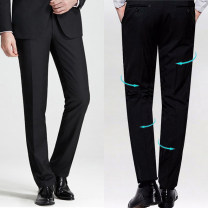 Western-style trousers YD Business gentleman Grey, Navy, black 28,29,30,31,32,33,34,35,36,37,38,40,42,44, please consult customer service for customization 6M00K15 trousers Polyester 80% cotton 20% Slim fit autumn go to work youth Business Casual Solid color 2016 No iron treatment other Quilting