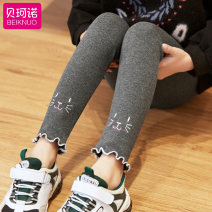 trousers female 100cm 110cm 120cm 130cm 140cm 150cm spring and autumn Ninth pants There are models in the real shooting Leggings Don't open the crotch Cotton 95% polyurethane elastic fiber (spandex) 5% Spring 2020