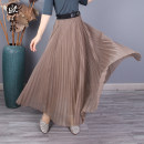 skirt Spring 2021 M L khaki - Pre sale 10 days black - Pre sale 10 days apricot - Pre sale 10 days grey - 10 days in advance Mid length dress Versatile Natural waist A-line skirt Solid color More than 95% O'keeling other Other 100% Pure e-commerce (online only)