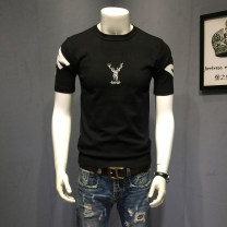 T-shirt / sweater Others Youth fashion Black, yellow M,L,XL,2XL,3XL,4XL,5XL routine Socket Crew neck Short sleeve autumn Slim fit 2020 leisure time tide youth routine Animal design No iron treatment Fine wool (16 and 14 stitches) wool blend  Embroidery 30% and below