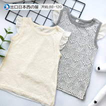 T-shirt Grey, beige Other / other 80cm,90cm,95cm,100cm,110cm,120cm,130cm female summer Crew neck solar system No model nothing cotton Solid color 6 months, 12 months, 9 months, 18 months, 2 years old, 3 years old, 4 years old, 5 years old, 6 years old, 7 years old tassels