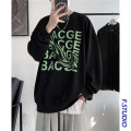 Sweater Youth fashion myfangshao White, black M,L,XL,2XL,3XL,4XL,5XL other Socket routine Crew neck spring easy leisure time teenagers tide routine Fleece  printing No iron treatment Japanese and Korean style