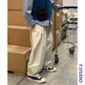 Casual pants myfangshao Fashion City Off white, black S,M,L,XL routine trousers Other leisure easy Four seasons youth like a breath of fresh air 2021 middle-waisted
