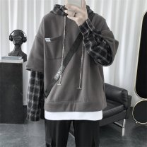 Sweater Youth fashion myfangshao Black, dark gray, light gray, > Click to view size < (select color in front) M,L,XL,2XL other Socket routine Hood spring easy leisure time teenagers tide routine