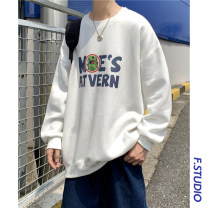 Sweater Youth fashion myfangshao White, black, blue, > Click to view size < (select color in front) M,L,XL,2XL,3XL,4XL,5XL originality Socket routine Crew neck spring easy leisure time youth routine printing