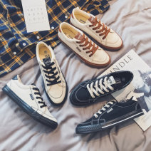 canvas shoe 39,40,41,42,43 Frenulum Low Gang Other / other Black, beige, white black spring and autumn The trend of youth cloth rubber ventilation Solid color Vulcanized shoes Youth (18-40 years old) without wearing make-up Korean version cloth