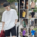 T-shirt Youth fashion routine S,M,L,XL,2XL myfangshao Short sleeve Crew neck easy daily summer teenagers Bat sleeve Basic public 2019 Solid color cotton No iron treatment
