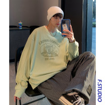 Sweater Youth fashion myfangshao Light green, grey M,L,XL other Socket routine Crew neck spring easy leisure time youth Youthful vigor routine printing