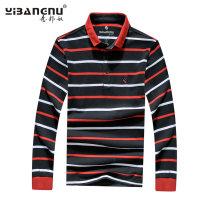 T-shirt Youth fashion routine 4XL M L XL 2XL 3XL Italian bondage Long sleeves Lapel easy Other leisure Cotton 100% Autumn of 2019 cotton More than 95%