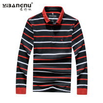 T-shirt Youth fashion routine 4XL M L XL 2XL 3XL Italian bondage Long sleeves Lapel easy Other leisure Cotton 100% Autumn of 2019 cotton More than 95%