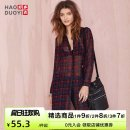 shirt shirt sleeve polyester fiber 96% and above Autumn 2014 Long sleeve Versatile Medium and long term stand collar lattice 18-24 years old Single row multi button 142518017 Straight tube Haoduoyi Polyester 100% XS S M L XL XXL lattice