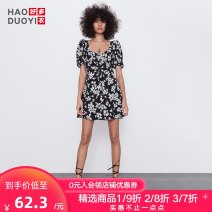 Dress Summer 2020 Decor S M L XL XXL Short skirt singleton  Short sleeve street other Decor A-line skirt puff sleeve 18-24 years old Type A Haoduoyi More than 95% polyester fiber Polyethylene terephthalate (polyester) 100% Pure e-commerce (online only) Europe and America
