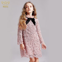 Dress Pink female I natural Angel / aianjiu 110cm 120cm 130cm 140cm 150cm 160cm Polyester 100% spring and autumn leisure time Long sleeves Solid color nylon Cake skirt AAJ474 Class B Autumn 2020 Five, six, seven, eight, nine, ten, eleven, twelve, thirteen