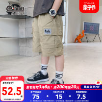 trousers Little elephant ham male 110cm 120cm 130cm 140cm 150cm 160cm yellow summer Pant There are models in the real shooting Casual pants Leather belt middle-waisted Don't open the crotch Cotton 97% polyurethane elastic fiber (spandex) 3% XW2001 Class B XW2001 Summer 2021