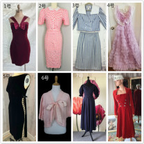Dress Spring 2014 Price change after auction No.1 red velvet bow skirt is 599 yuan, No.3 80s blue striped sailor suit is 599 yuan, No.5 50s black velvet skirt is 1590 yuan, and No.8 50s red velvet skirt is 1590 yuan