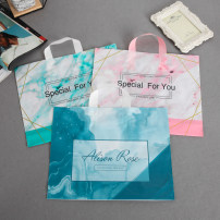 Gift bag / plastic bag Sky blue, pink, lake blue, peacock blue feather, apricot autumn chrysanthemum, blue autumn chrysanthemum, yellow autumn chrysanthemum, rich bird Fifty in a pack Small size 33 * 25 wide Ink painting