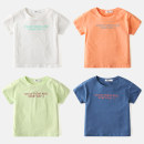 T-shirt Other / other male summer Short sleeve Crew neck Korean version No model nothing cotton Solid color Cotton 95% polyurethane elastic fiber (spandex) 5% Class B Sweat absorption 2 years old, 3 years old, 4 years old, 5 years old, 6 years old, 7 years old, 8 years old Chinese Mainland