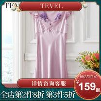 Bath skirt / bathrobe / bathrobe female M(160/84A) L(165/88A) Tevel / Grand Mint Green romantic purple Lydia silk nightdress (gold) Chris silk nightdress (purple)