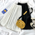 skirt Summer 2021 Average size Black, white Mid length dress Versatile High waist A-line skirt Solid color Type A 18-24 years old 71% (inclusive) - 80% (inclusive)