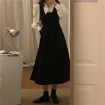 Fashion suit Spring 2021 White shirt 454, black dress 455 Separate shots 18-25 years old 454 455