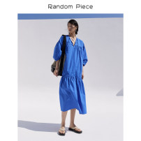 Dress Summer 2021 Royal Blue will be delivered around April 23 , Apricot around April 23 delivery , Navy Blue delivery around April 23 , Blue May 28 delivery , Navy delivery around May 28 XS,S,M,L RandomPiece MS04PD03 71% (inclusive) - 80% (inclusive) brocade
