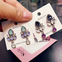 Ear Studs 10-19.99 yuan Other / other Alloy / Silver / Gold Purple green folk-custom Female