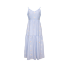 Dress Summer 2020 Blue purple drawstring dress Beige drawstring dress 150/76A/XS 155/80A/S 160/84A/M 165/88A/L 170/92A/XL 175/96A/XXL Mid length dress singleton  elbow sleeve commute V-neck middle-waisted Big flower Single breasted A-line skirt bishop sleeve 25-29 years old Type X Tricolor lady