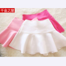skirt Spring 2021 S. M, l, lined shorts White, black, rose, pink, red, light blue, violet Short skirt commute Natural waist Ruffle Skirt Solid color Type A 18-24 years old A235 knitting cotton Lotus leaf edge Korean version