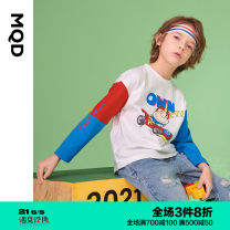 T-shirt MQD 110cm 120cm 130cm 140cm 150cm 160cm male spring and autumn Long sleeves Crew neck leisure time There are models in the real shooting nothing cotton Cartoon animation Cotton 100% Class B Winter 2020 Chinese Mainland