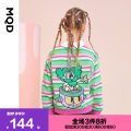 Sweater / sweater MQD Nine year old tmall female 110cm 120cm 130cm 140cm 150cm 160cm spring and autumn nothing leisure time routine cotton stripe Cotton 100% G21130608 Class C Winter 2020