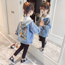 Plain coat Children's coffee female 110cm 120cm 130cm 140cm 150cm 160cm 170cm spring and autumn Korean version Single breasted There are models in the real shooting routine nothing Cartoon animation cotton Lapel TK20362 Cotton 49% polyester 27.9% others 23.1% Class C Spring 2021
