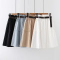 skirt Spring 2021 Average size longuette A-line skirt Solid color 18-24 years old 30% and below other other Splicing