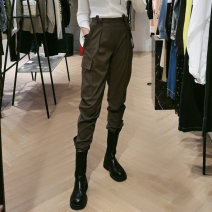 Casual pants XS/155,S/160,M/165,L/170,XL/175 Spring 2021 trousers Overalls Natural waist street routine 25-29 years old 96% and above Pretend to be amashizheng cotton pocket cotton Europe and America