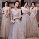 Dress / evening wear Wedding adult party company annual meeting performance XS S M L XL XXL Korean version longuette middle-waisted Autumn 2020 Fall to the ground One shoulder Bandage 18-25 years old JYX20902FC Short sleeve flower Solid color Get married routine Polyamide fiber (nylon) 100%