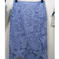 skirt Spring of 2018 Light blue, black Mid length dress Versatile Natural waist skirt Animal pattern Type A 18-24 years old 51% (inclusive) - 70% (inclusive) Lace cotton