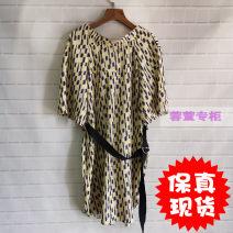 Dress Summer of 2019 Mid length dress Short sleeve