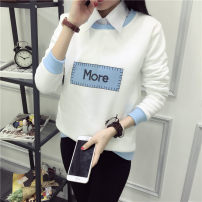 T-shirt M,L,XL,2XL Winter 2021 Long sleeves High collar easy routine commute polyester fiber 86% (inclusive) -95% (inclusive) 18-24 years old Korean version youth printing