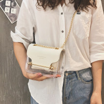 Bag The single shoulder bag PVC Small square bag Other / other brand new Japan and South Korea leisure time soft no Single root One shoulder cross nothing youth Horizontal square Soft handle