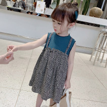 Dress Blue, brown female Other / other The recommended height is 90cm-100cm for size 7, 100cm-110cm for size 9, 110cm-120cm for size 11, 120cm-130cm for size 13 and 130cm-140cm for size 15 Other 100% summer af123100 2 years old, 3 years old, 4 years old, 5 years old, 6 years old, 7 years old