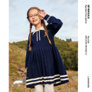 Dress Navy Blue female Seven solo 110cm 120cm 130cm 140cm 150cm 160cm Other 100% winter college Long sleeves other other A-line skirt Class C Winter 2020 3 years old, 4 years old, 5 years old, 6 years old, 7 years old, 8 years old, 9 years old, 10 years old, 11 years old, 13 years old, 14 years old