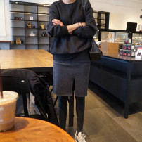 Sweater / sweater Winter 2020 Dark grey, light grey, black Spot delivery, 15 days delivery Long sleeves routine Socket singleton  Plush Crew neck easy street routine Solid color 30-34 years old cotton Cotton liner Europe and America