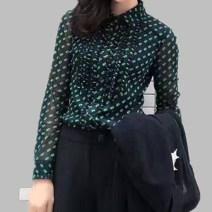 shirt Green, khaki, black Size 2 (s), size 3 (m), size 4 (L), size 5 (XL), size 6 (XXL) Spring 2021 nylon 96% and above Long sleeves Versatile Regular stand collar Single row multi button routine Dot Self cultivation Pinge Dixin