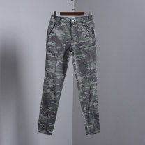 Jeans Autumn 2020 Camouflage green trousers Natural waist routine Sindarin / Sindarin