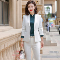 Professional dress suit S,M,L,XL,XXL,XXXL,4XL Winter of 2019 Long sleeves Jacket, other styles Suit skirt 25-35 years old Fashion beauty 81% (inclusive) - 90% (inclusive) spandex