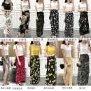 Dress Summer 2020 S,M,L,XL,2XL longuette Two piece set Short sleeve Sweet Crew neck High waist Decor Socket Irregular skirt routine Type A