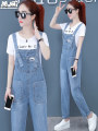 Jeans Summer 2020 S,M,L,XL trousers High waist rompers Thin money 25-29 years old Wash, pattern, Multi Pocket Cotton elastic denim light colour Z85A8816-1 Other / other