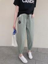 Casual pants Summer 2021 Haren pants Natural waist commute Thin 71% (inclusive) - 80% (inclusive) other Simplicity pocket One size fits all Dark grey, dark grey spot, bean green, bean green spot