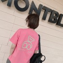 T-shirt Pink, pink in stock Average size Spring 2021 Short sleeve Crew neck Straight cylinder Regular routine Sweet cotton 96% and above youth Cartoon, animation, letters printing Ruili